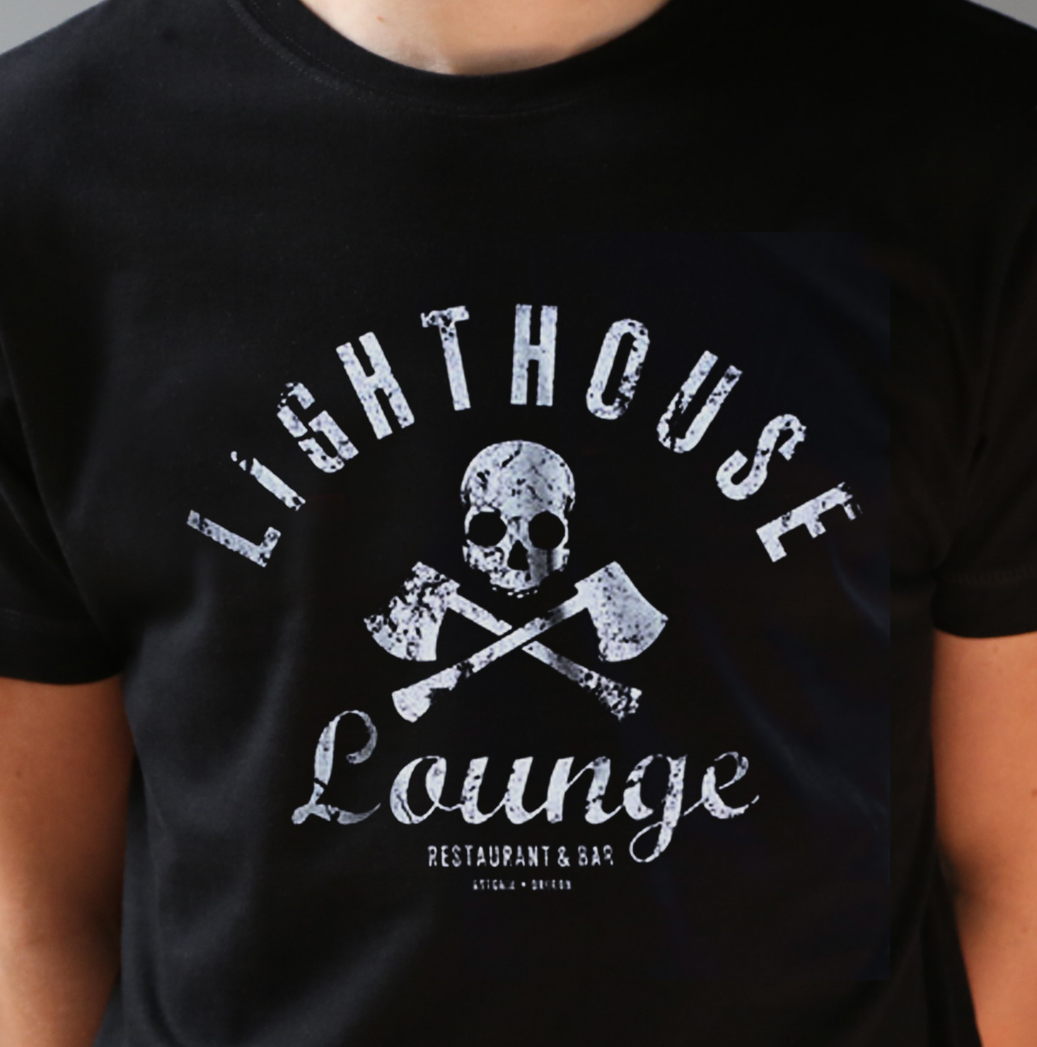 Lighthouse Lounge Fitted T Shirt Last Exit To Nowhere